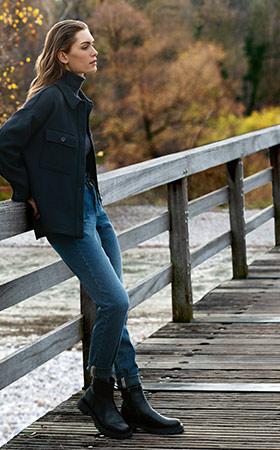Lockere Jeans mit weitem Bein bei Angels